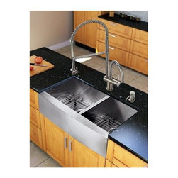 Vigo Industries - Kitchen Sink and 28 in. Faucet Set - Revitalize the look of your kitchen with a VIGO All in One Kitchen Set.