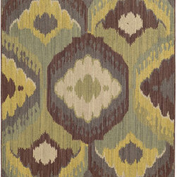 Tommy Bahama Area Rugs - Cabana 929N2 Brown and Blue Rectangular: 5 Ft. 3 In. x 7 Ft. 6 In. Rug - - The Cabana collection from Tommy Bahama Home features a line of area rugs beautiful enough for the indoors but durable enough to bring its beauty outdoors. The line boasts an 8-color spaced dyed loop pile for added texture, depth and dimension. Featuring a sophisticated color palette in traditional to global designs, Cabana is the perfect addition to any indoor or outdoor space.  - Construction: Machine Woven  - Material: Polypropylene  - Care Instructions: Spot clean with water and mild soap  - Primary Pattern: Abstract  - Pile Height in Inches: 0.31  - Country of Origin: Egypt Tommy Bahama Area Rugs - 748679393466