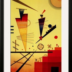 Artcom - Merry Structure by Wassily Kandinsky - Merry Structure by Wassily Kandinsky is a Framed Art Print set with a SOHO Black wood frame and a Crisp - Bright White mat.