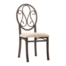 Upton Home - Upton Home Lucianna Brown/ Beige Chairs (Set of 4) - These four chairs are styled to create a wonderful transition between any varieties of d�cor. The seat cushion is covered with a beige short napped polyester fabric that adds the perfect amount of color contrast.