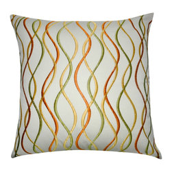 """Loom and Mill - Loom and Mill P0031-2020P 20"""" x 20"""" Cream Branch Decorative Pillow - Need a little movement to your decor? This gorgeous and well-constructed decorative pillow will add a sense of dancing and lightness to any room. Spot clean only."""