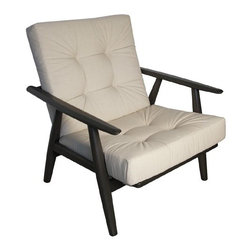 NOIR - NOIR Furniture - Frankie Relax Chair in Pale - SOF214P - Features: