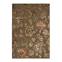 """Couristan - Cire` Retro Poppy Rug 1355/9271 - 2'7"""" x 7'6"""" - True works of art for your floor, these area rugs are designed to adorn traditional stylings, as well as contemporary. Use a secondary color found in the palette of the area rug as inspiration for wall paint and add throw pillows with similar textures, to add a designer flair."""