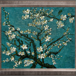 "overstockArt.com - Branches of an Almond Tree in Blossom - Vincent Van Gogh Oil Painting - 20"" x 24"" Oil Painting On Canvas Hand painted oil reproduction of a famous Van Gogh painting, Branches of an Almond Tree in Blossom. The original masterpiece was created in 1890. Today it has been carefully recreated detail by detail, color by color to near perfection. Van Gogh created this painting as a gift for his newborn nephew. The way he made is brush strokes were fitting to the baby because he combined a sense of fragility and energy. A joyous and hopeful image for the child's future. Vincent Van Gogh's restless spirit and depressive mental state fired his artistic work with great joy and, sadly, equally great despair. Known as a prolific Post-Impressionist, he produced many paintings that were heavily biographical. This work of art has the same emotions and beauty as the original. Why not grace your home with this reproduced masterpiece? It is sure to bring many admirers!"