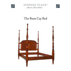 The Rum Cay Bed - The Rum Cay Bed is our salute to the seafaring captains. Bold rope-carved tall posts and details such as the knot and rope carvings on the crown of the headboard make this island bed an object of desire. Swirl carved finials complement the carved posts. Available with an optional canopy frame.