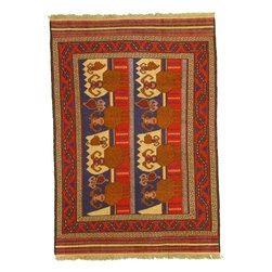 eSaleRugs - 6' 3 x 8' 11 Pictorial Sumak Rug - SKU: 22139298 - Hand Woven Pictorial Sumak rug. Made of 100% Wool. Brand New.