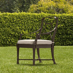 Antibes Armchair - Impeccably made outdoor furniture with the relaxed elegance of the French Mediterranean.