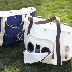 Cooler Speaker Tote - The perfect picnic bag: It plays music and keeps your food and drinks cold.