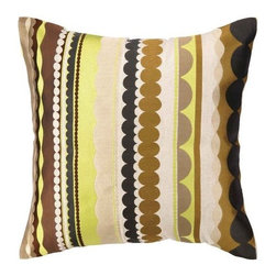 Trina Turk - Trina Turk Tallejo Embroidered Pillow  20 x 20 - Trina Turk Tallejo embroidered pillow.  Great for modern or contemporary style.