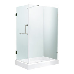 "VIGO Industries - VIGO 36 x 48 Frameless 3/8"" Clear/Chrome Shower Enclosure - Update your bathroom with this uniquely stylish and totally frameless VIGO rectangular-shaped shower enclosure"