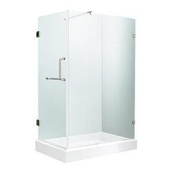 """VIGO Industries - VIGO 36 x 48 Frameless 3/8"""" Clear/Chrome Shower Enclosure - Update your bathroom with this uniquely stylish and totally frameless VIGO rectangular-shaped shower enclosure"""