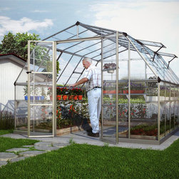 None - Palram Americana 12 x 12 Greenhouse - This greenhouse features a large and roomy barn-shaped design with plenty of space for all your gardening needs. And,at 8.5-feet tall,this greenhouse has plenty of head room.
