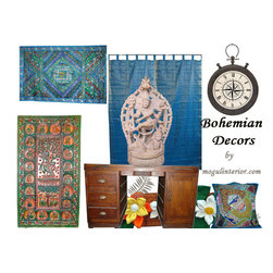 Bohemian Decor Ideas - http://www.mogulinterior.com/wooden-tables-chests.html