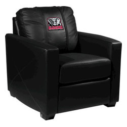 Dreamseat Inc. - University of Alabama NCAA Elephant Xcalibur Leather Arm Chair - Check out this incredible Arm Chair. It's the ultimate in modern styled home leather furniture, and it's one of the coolest things we've ever seen. This is unbelievably comfortable - once you're in it, you won't want to get up. Features a zip-in-zip-out logo panel embroidered with 70,000 stitches. Converts from a solid color to custom-logo furniture in seconds - perfect for a shared or multi-purpose room. Root for several teams? Simply swap the panels out when the seasons change. This is a true statement piece that is perfect for your Man Cave, Game Room, basement or garage.