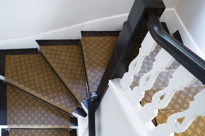 Traditional Staircase by Charmean Neithart Interiors, LLC.