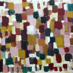 """""""The Stacking Of Squarish Shapes"""" (Original) By Don Wunderlee - Around 2005 I Was Into Making Paintings I Called 'Daubs ' A Repetition Of Paint Strokes That Were Very Gratifying To Make, This Is One Of Them"""