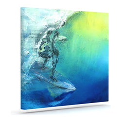 """Kess InHouse - Josh Serafin """"September High"""" Blue Green Wrapped Art Canvas (12"""" x 10"""") - Bring your outdoor patio to life with this artistic outdoor canvas wrap featuring gorgeous artwork by KESS InHouse. These canvases are not only easy to hang and remove but also are the perfect addition to your patio collection. These canvases are stretched around a wooden frame and are built to withstand the elements and still look artistically fabulous. Decorating your patio and walls with these prints will add the splash of art and color that is needed to bring your patio collection together! With so many size options and artwork to choose from, there is no way to go wrong with these KESS Canvas Wraps!"""