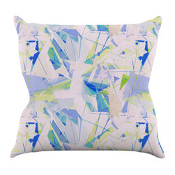 "Kess InHouse - Alison Coxon ""Shatter Blue"" Throw Pillow (18"" x 18"") - Rest among the art you love. Transform your hang out room into a hip gallery, that's also comfortable. With this pillow you can create an environment that reflects your unique style. It's amazing what a throw pillow can do to complete a room. (Kess InHouse is not responsible for pillow fighting that may occur as the result of creative stimulation)."