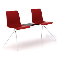 B&T Design - Leo Bench Double, Red Shell, Double Seater - Leo Bench