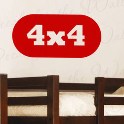 Decals for the Wall - Wall Decal Quote Sticker Vinyl Art Lettering 4x4 Trucks and Toys Boy's Room K22 - This decal says ''4x4''