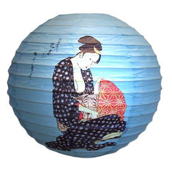 Oriental-Décor - Lovely Geisha Lantern - Hang several of these hand-painted paper lanterns from your ceiling fan and watch them dance and sway in your room. Or string them in a garland for your next party. Light them from the inside for a stunning visual effect.