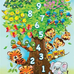 Counting Tree Puzzle - 36 Piece Jigsaw PuzzleThis 36 piece children's puzzle is perfect for a child aged 3 and up who is just learning to count! The cute animals come in group sizes corresponding to the numbers as you climb up the tree! And don't worry, even the snakes are cute looking!