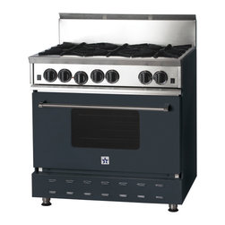 "36"" BlueStar Range in Slate Grey (RAL 7015) - RAL 7015"