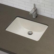 "DecoLav 1402 21"" Undermount Bathroom Sink w/ Overflow"