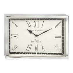 Wadsworth Small Wall Clock - This contemporary, art deco inspired wall clock will bring a sophisticated touch of mid-century aesthetic to office or home right on time.