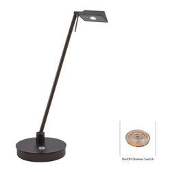 "Kovacs - Kovacs P4316-647 19"" LED Pharmacy Copper Bronze Patina Table Lamp - Kovacs P4316-647 LED PharmacyTable LampWhether it is the beautiful elongated triangle lamp head or rich Copper Bronze Patina finish, there are plenty of things to love about this LED table lamp. This ultra energy efficient 8 watt LED lamp will suit any job that requires pure task lighting, whether it is the bedroom, living room, study, or home office.Kovacs P4316-647 Features:"