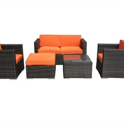 Kontiki - Kontiki Conversation Sets - Wicker Sofa Sets - Your outdoor space is a vital part of your whole property. With the Dominican Collection of patio furniture, you have a chance to create your own tropical zone for entertaining, family dining, or finding an oasis of rest in a busy life.   Whether you're creating an area for large gatherings, or smaller more intimate ones, the Dominican Collection allows you to scale your outdoor furnishings plan to suit your needs. And it's easy to mix and match later on as well, as your plans for your outdoor space begin to expand.   Function and look in a premium selection of patio furniture  Made using 100% recycled wicker-like materials, and designed to endure under the influences of UV rays, and moisture, the stylish look of each selection of the Dominican Collection of patio furniture is perfectly balanced. After all, you want your outdoor furnishings to be long-term part of your space just as you would with your indoor furniture.  This is why our manufacturing partners behind this high-quality patio furniture collection have built endurance into the design of each piece. And after you've set up your outdoor furnishings, keeping them looking great is easy. All you need is a soft cloth, and warm water. And then, pour the ice tea, and get those cold summer salads and barbecue ready for a memorable season outdoors.  High-quality patio furniture for best prices  Presenting the Dominican Collection of patio furniture on the Kontiki label has been a concerted effort between us at BuildDirect and our manufacturing partners. They've put all of their expertise into the making of each piece; stylish, sturdy, and ready for your outdoor space.  For our part, we've streamlined the process of getting these excellent outdoor furnishing pieces from where they're made to where you want them. And we've done it in the
