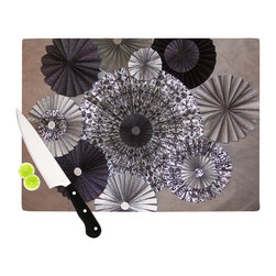 """Kess InHouse - Heidi Jennings """"Shadows"""" Dark Circles Cutting Board (11"""" x 7.5"""") - These sturdy tempered glass cutting boards will make everything you chop look like a Dutch painting. Perfect the art of cooking with your KESS InHouse unique art cutting board. Go for patterns or painted, either way this non-skid, dishwasher safe cutting board is perfect for preparing any artistic dinner or serving. Cut, chop, serve or frame, all of these unique cutting boards are gorgeous."""