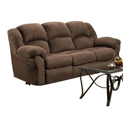 Chelsea Home Furniture - Chelsea Home Ambrose Reclining Sofa in Aruba Chocolate - Ambrose Reclining sofa in Aruba Chocolate belongs to Verona IV collection by Chelsea Home Furniture