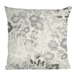 DENY Designs - DENY Designs Khristian A Howell Provencal 1 Throw Pillow - Floral prints just got interesting. Based out of Denver, DENY works with various art communities and artists from around the world to bring you beautiful custom home accessories. With all the style and classic elegance the DENY Designs Khristian A Howell Provencal 1 Throw Pillow brings, you'll prove that throw pillows aren't just for grandma anymore. Featuring grey and silver flowers against a creamy background, the woven polyester cover uses a six-color dye process for long-lasting, fade-resistance. Add this as a subtle accent to your white couch, or give it a home on the bed - maybe grandma wasn't so crazy after all!Custom printed to orderSix color dye processWoven polyester coverConcealed zipperFade-resistantKhristian A Howell collection