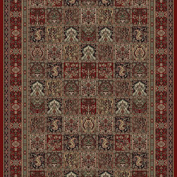 "Concord Global - Concord Global Persian Classics Panel Red 2' x 7'7"" Rug (2040) - The majority of designs in this collection are replicas of antique Persian rugs. In this 1 million point per square meter quality the colors and fine denier yarn are purposely chosen to give the look of the original hand made old rugs. These classic Persian style rugs are so elegant that they would convert your rooms into most beautiful atmosphere instantly. Persian Classics collection has the world's most popular designs and offers the best quality-value combination"