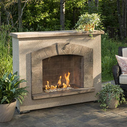 Fireplaces - Portable and movable outdoor gas fireplace.