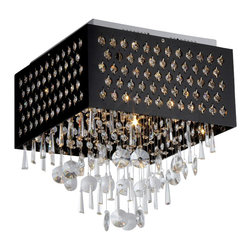 "Warehouse of Tiffany - Warehouse of Tiffany Yuko 1-light Crystal Chandelier - Add some elegance to your home with the Yuko Crystal Chandelier from Warehouse of Tiffany. This dynamic lighting element features a black metal shade and generous rows of cascading crystals to catch the light. Setting: IndoorsFixture finish: ChromeShades: Black metal with crystalsNumber of lights: One (1)Requires one (1) 60 watt bulb (not included)Dimensions: 14.5 inches high x 11 inches wide x 23 inches deepThis fixture does need to be hard wired. Professional installation is recommended.California residents please note per Proposition 65, ""WARNING: This product contains chemicals known to the State of California to cause cancer and birth defects or other reproductive harm.""CSA Listed, ETL Listed, UL Listed"