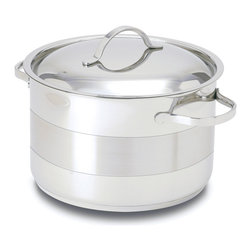 Cuisinox - Cuisinox Gourmet 8 1/2 qt Covered Dutch Oven - A Dutch oven is likely the most often used pot of all pots. It is not too big and not too small. Made from 18/10 stainless steel in a two toned finish and a 3-ply clad base which guarantees superior quality.