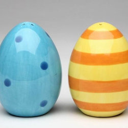 ATD - 2.75 Inch Blue Polka Dot and Yellow Striped Eggs Salt and Pepper - This gorgeous 2.75 Inch Blue Polka Dot and Yellow Striped Eggs Salt and Pepper has the finest details and highest quality you will find anywhere! 2.75 Inch Blue Polka Dot and Yellow Striped Eggs Salt and Pepper is truly remarkable.