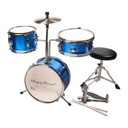 Spectrum Junior Electric Blue Drum Kit - Let your child's inner rock star come out with the help of the Spectrum Junior Electric Blue Drum Kit. Made of lightweight six-ply birch with an electric blue finish, this kit gives any kid a taste of the excitement of the drums. It comes with a kick, tom tom, cymbal, and snare for a real drumming experience. Other accessories include an adjustable snare stand, throne, and kick pedal. No kit would be complete without a set of sticks and a handy drum key for tuning up the skins! Ideal for ages 6 to 12.About Ashley EntertainmentAshley Entertainment is the manufacturer of Spectrum brand musical instruments and is an importer and distributor of several other brands. From shipping points in the US and abroad, Ashley Entertainment offers thousands of quality musical products for all levels of play. They supply a wide variety of retail outlets with multiple categories for drop ship and resale both domestic and international.