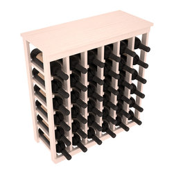 Wine Racks America - 36 Bottle Kitchen Wine Rack in Ponderosa Pine, White Wash Stain + Satin Finish - A small wine rack with big storage. This wine rack kit is the best choice for converting tiny spaces into big wine storage. The solid wood top excels as a table for wine accessories, small plants, and wine collectables. Store 3 cases of wine properly in a space smaller than most entry tables!