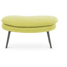 Modern Footstools And Ottomans Hugo Envy Green Ottoman