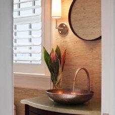 Contemporary Powder Room by Kathleen Hay Designs