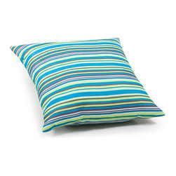 ZUO - Puppy Outdoor Pillow - Large - Striped in aqua, leaf green, purple and olive, the Puppy Pillow adds a bold splash of color to your poolside furniture. Water resistant, to withstand errant. It may just become your favorite part of the yard. Comes in small or large.