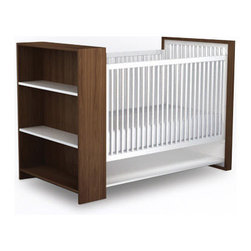 AJ Crib - Hooray for multifunctional furniture! This crib provides a sweet space for sleep and plenty of room for the mountains of things that come with having a baby.