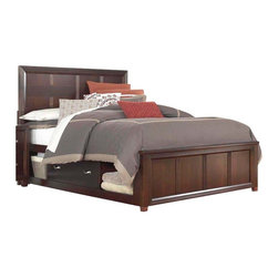 Broyhill - Broyhill Eastlake 2 Panel Double Underbed Storage Bed in Brown Cherry - Broyhill - Beds - 4264PanelDoubleStorageBed - About This Product: