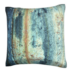Custom Photo Factory - Textured Rust Surface Pillow.  Polyester Velour Throw Pillow - Textured Rust Surface Pillow. 18 Inches x 18  Inches.  Made in Los Angeles, CA, Set includes: One (1) pillow. Pattern: Full color dye sublimation art print. Cover closure: Concealed zipper. Cover materials: 100-percent polyester velour. Fill materials: Non-allergenic 100-percent polyester. Pillow shape: Square. Dimensions: 18.45 inches wide x 18.45 inches long. Care instructions: Machine washable