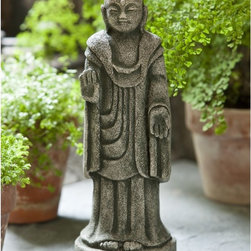 Campania International - Campania International Artifact Buddha Cast Stone Garden Statue - OR-125-AL - Shop for Statues and Sculptures from Hayneedle.com! About Campania InternationalEstablished in 1984 Campania International's reputation has been built on quality original products and service. Originally selling terra cotta planters Campania soon began to research and develop the design and manufacture of cast stone garden planters and ornaments. Campania is also an importer and wholesaler of garden products including polyethylene terra cotta glazed pottery cast iron and fiberglass planters as well as classic garden structures fountains and cast resin statuary.Campania Cast Stone: The ProcessThe creation of Campania's cast stone pieces begins and ends by hand. From the creation of an original design making of a mold pouring the cast stone application of the patina to the final packing of an order the process is both technical and artistic. As many as 30 pairs of hands are involved in the creation of each Campania piece in a labor intensive 15 step process.The process begins either with the creation of an original copyrighted design by Campania's artisans or an antique original. Antique originals will often require some restoration work which is also done in-house by expert craftsmen. Campania's mold making department will then begin a multi-step process to create a production mold which will properly replicate the detail and texture of the original piece. Depending on its size and complexity a mold can take as long as three months to complete. Campania creates in excess of 700 molds per year.After a mold is completed it is moved to the production area where a team individually hand pours the liquid cast stone mixture into the mold and employs special techniques to remove air bubbles. Campania carefully monitors the PSI of every piece. PSI (pounds per square inch) measures the strength of every piece to ensure durability. The PSI of Campania pieces is currently engi
