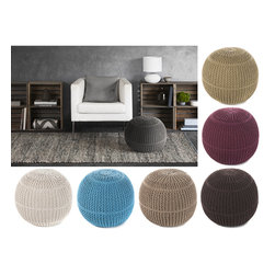 "None - Mandara Handmade Cottonc Poufs(18""x18""x16"") - Indian poufs are hand-crafted from cotton material. Accent pieces make a great accessory to any room. Indian pouf are very light weight and provide great look. Comes in seven color options:ivory,blue,grey,beige,brown,burgundy,tan."
