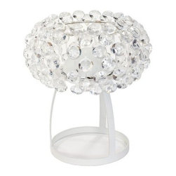 Halo Acrylic Crystal Table Lamp - Turn your desk's style dial up to 11 with the Halo Acrylic Crystal Table Lamp. This lamp has a bubble-wrap look made of acrylic crystal that everyone will love. Its slim yet sturdy painted iron base adds a spacious look and this light requires a 60-watt bulb (not included).About East End ImportsEast End Imports is based in New York City. They design and manufacture modern furniture and lighting that has an elegant, exciting, look that doesn't go out of style. East End Imports offers high-quality, innovative furniture at an affordable price. Their seating options, lounge furniture, and lighting are just right for the modern office, home bar, outdoor living space, or contemporary home. Quality construction and superb design make each piece a style statement of which you'll never tire.